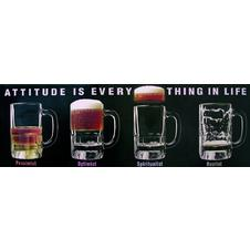 ATTITUDE IS EVERYTHING IN LIFE, Poster, Affiche