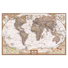 Poster Mappemonde antique