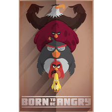 "Poster Angry Birds ""Born to be Angry"""