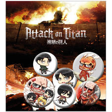 Set de 6 boutons Attack on Titan