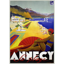 Impression d'art Annecy Sa Plage -