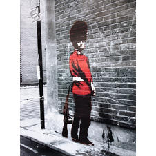 Poster Banksy : Queens Guard