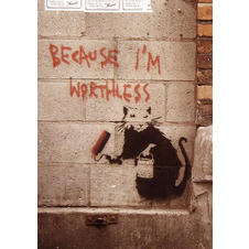 "Poster Banksy ""Because I'm"