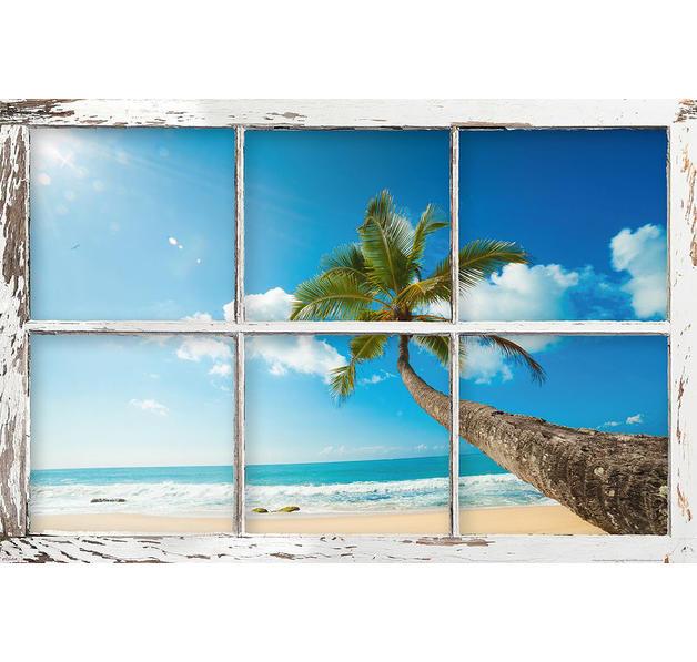 Poster fenetre sur plage bellavista posters grand format - Fenetre grand format ...