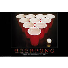 Poster Beer Pong