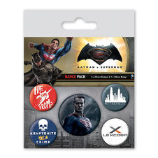 Set de 5 boutons Batman vs Superman