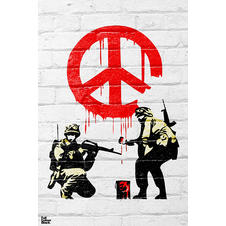 "Poster Bansky ""Peace Soldiers"""