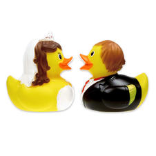 Set de 2 Canards de bain Couple de mariés