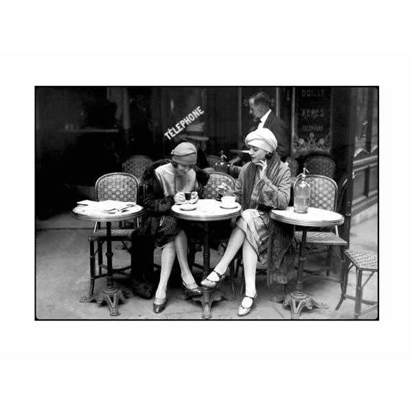 poster caf et cigarette paris 1925 reproduction posters petit format commandez d s. Black Bedroom Furniture Sets. Home Design Ideas