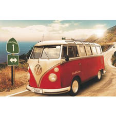 POSTER MINI BUS CALIFORNIEN