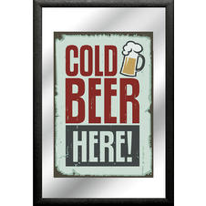 "Miroir ""Cold Beer Here!"""