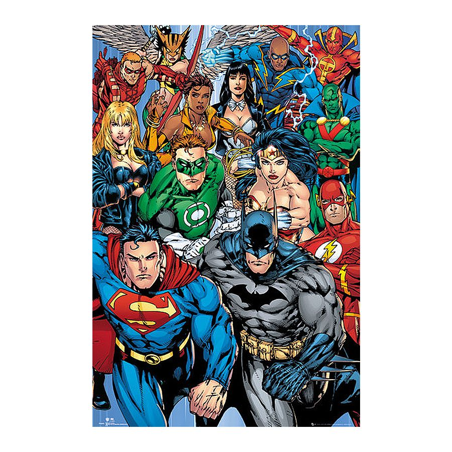 Poster super h ros dc comics collage posters grand - Poster super heros ...