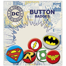 Ensemble de badges et porte-cartes DC Comics