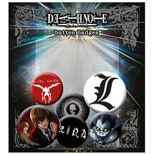 Set de 6 boutons Death Note
