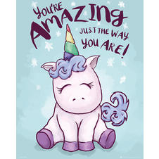 Poster Licorne - You're Amazing Just The Way You Are