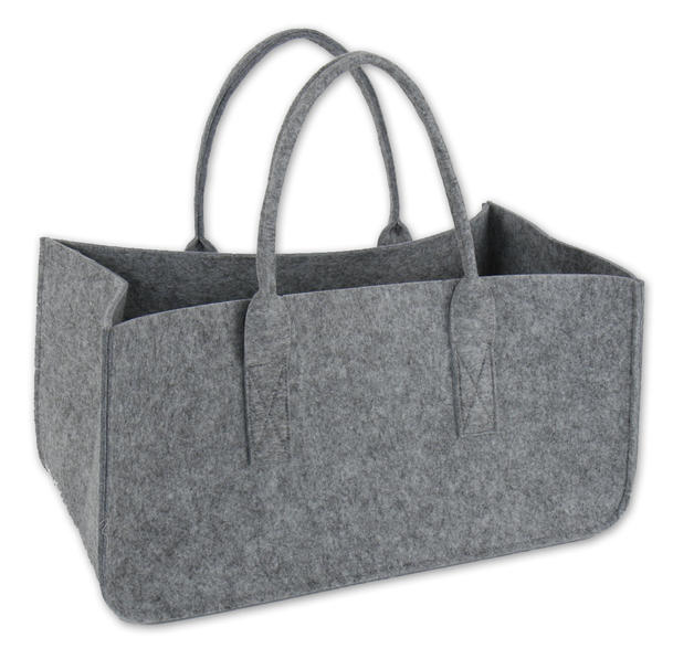 sac en feutre pour bois de chauffage gris clair en vente sur close up. Black Bedroom Furniture Sets. Home Design Ideas