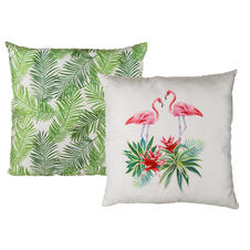 Coussin Flamant tropical