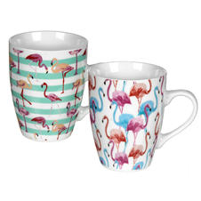 Set de 2 tasses Flamant