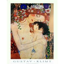 Poster Gustav Klimt Mother and Child