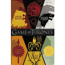 Poster Game of Thrones blasons