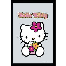 MIROIR HELLO KITTY avec un bouquet
