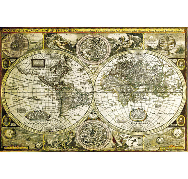 poster carte du monde ancienne posters grand format commandez d s maintenant close up. Black Bedroom Furniture Sets. Home Design Ideas