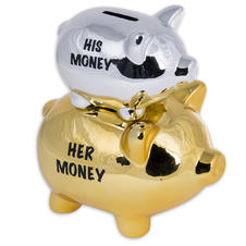 Tirelire His Money & Her Money -