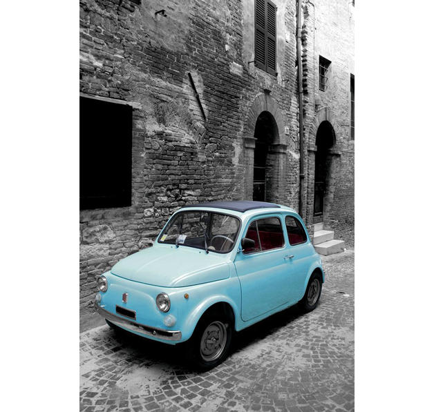 poster fiat 500 posters grand format commandez d s maintenant close up. Black Bedroom Furniture Sets. Home Design Ideas