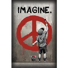 "Poster ""Imagine Peace/ Imagine la paix"""