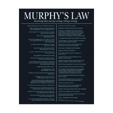 Poster Murphy's Law (en anglais)