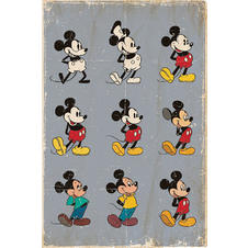 Poster Mickey Mouse Evolution