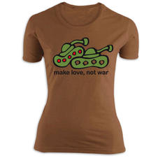 T-shirt girlie Make Love, not war