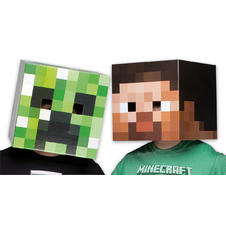 Ensemble de masques Minecraft Têtes de Creeper &