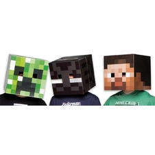 Ensemble de masques Minecraft