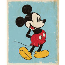 "Poster ""Mickey Mouse"" Retro Blue"