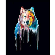 Poster Mystical Wolf -