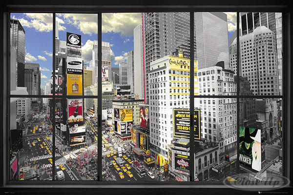 poster new york effet trompe l 39 oeil posters grand format. Black Bedroom Furniture Sets. Home Design Ideas
