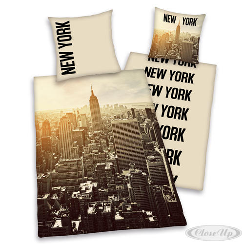 Housse de couette new york manhattan draps coussins for Drap housse new york