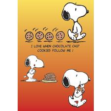 POSTER COOKIES FOLLOWING SNOOPY