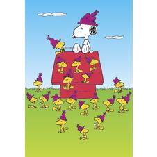 Poster Snoopy avec pleins de Woodstocks