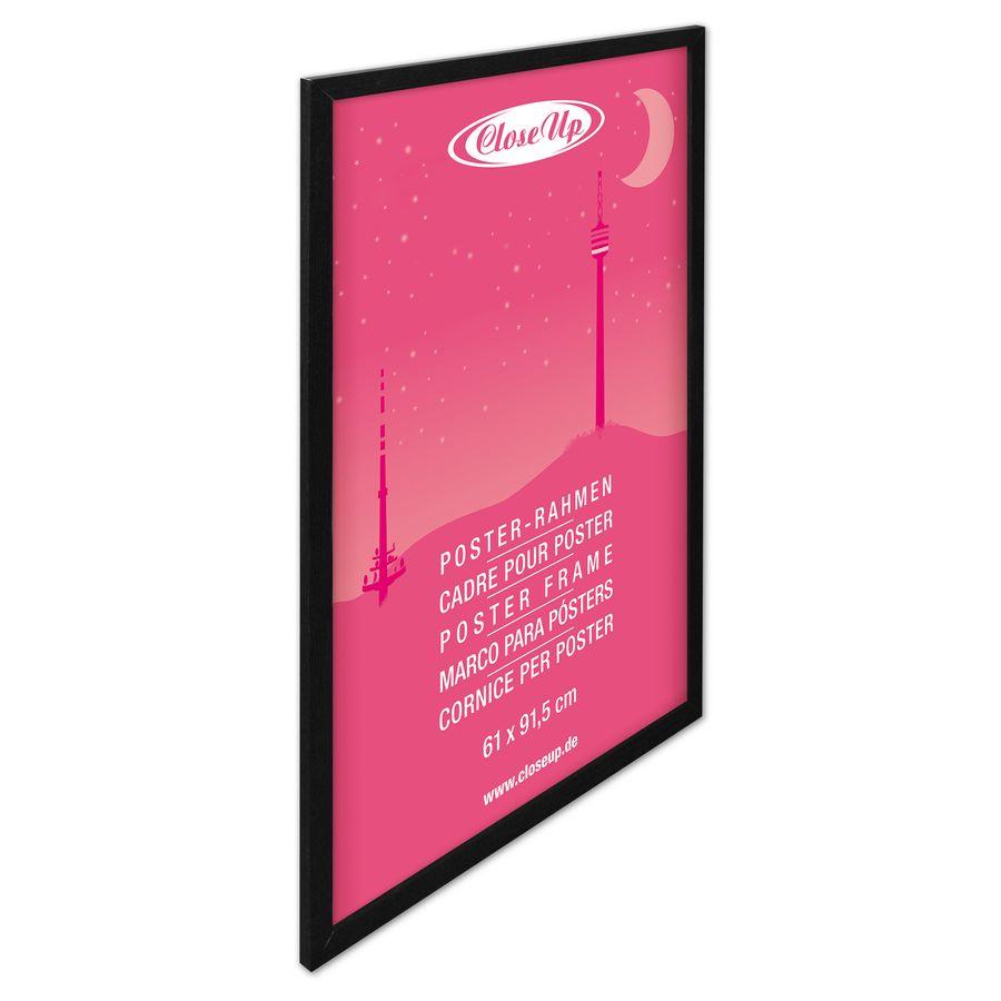 cadre pour poster 61 x 91 5cm effet bois noir cadres. Black Bedroom Furniture Sets. Home Design Ideas