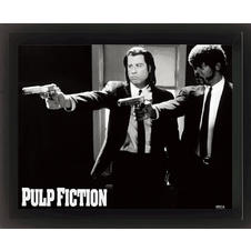 Poster encadré Pulp Fiction pistolets
