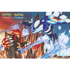 "Poster ""Pokemon"" Groudon & Kyogre"