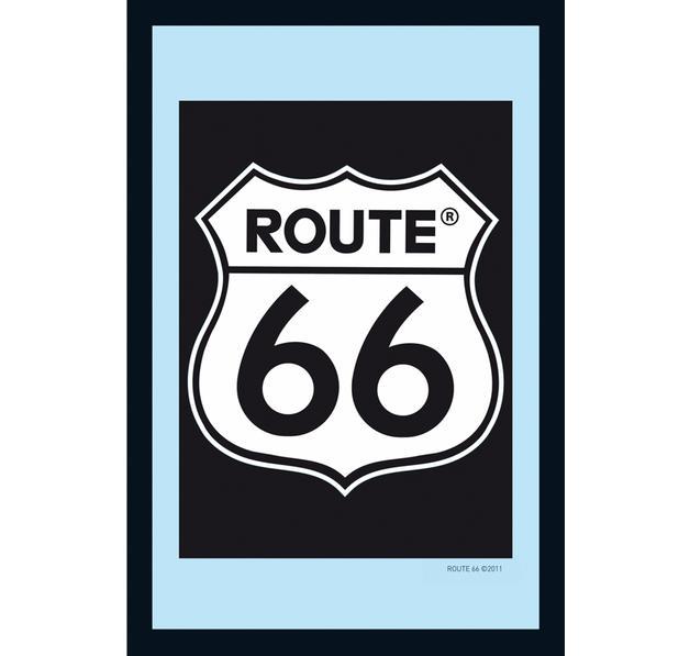 Miroir route 66 logo classique miroirs commandez d s for Miroir classique