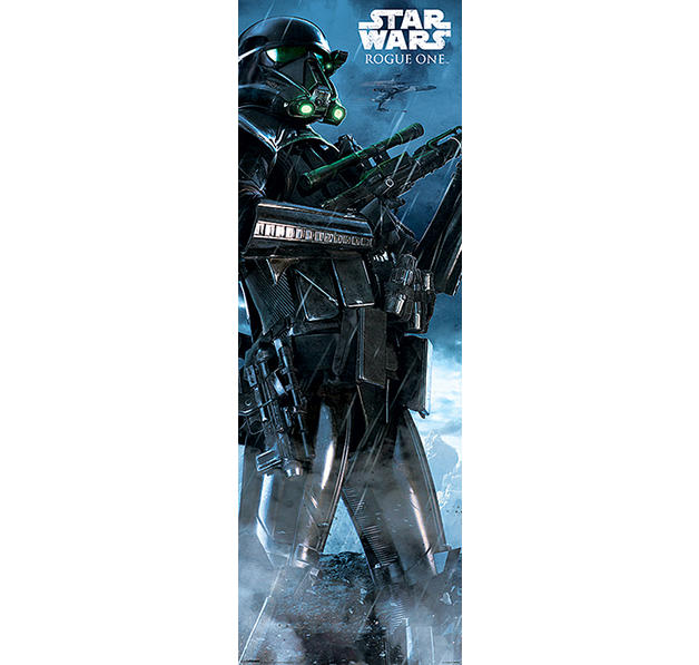 Poster de porte rogue one a star wars story death trooper for Decoration porte star wars