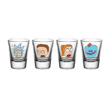 Set de 4 verres à liqueur Rick and Morty -