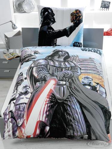 housse de couette star wars r versible dessin de dark vador draps coussins commandez d s. Black Bedroom Furniture Sets. Home Design Ideas