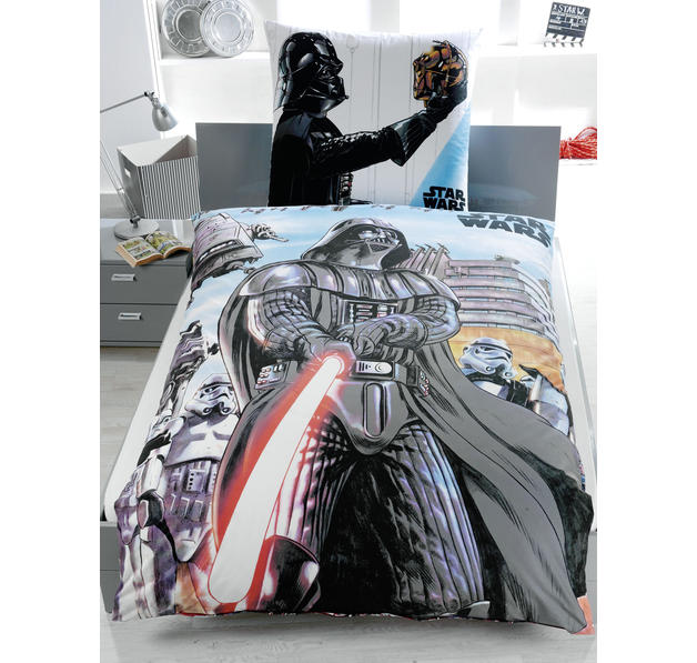 housse de couette star wars r versible dessin de dark. Black Bedroom Furniture Sets. Home Design Ideas