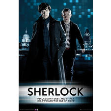 Poster Sherlock Heroes Don't Exist