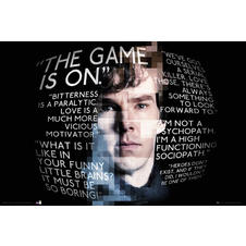 "Poster ""Sherlock""  The Game is on"